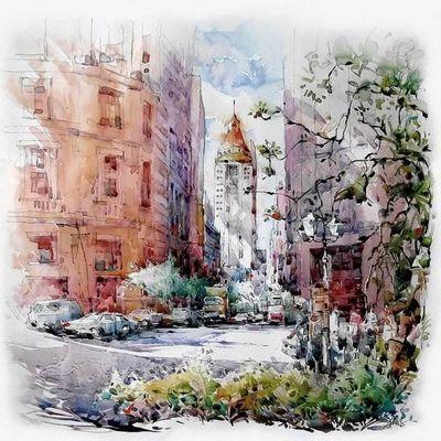 Акварельные города художника woon lam ng