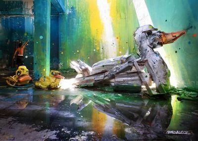 Bordalo ii граффити на мусоре