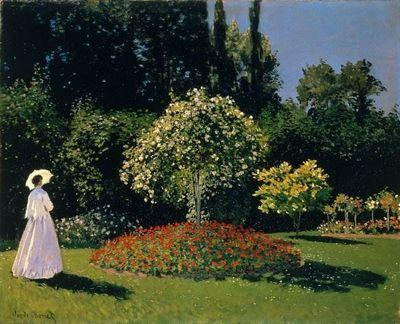 Дама в саду - описание картины клода моне