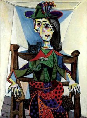 Дора маар с кошкой картина пабло пикассо