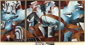 Евгений зевин запечатлел российскую академию искусств на холсте.
