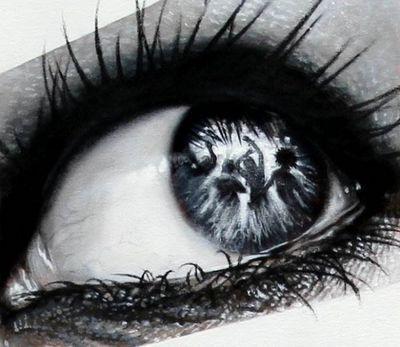 Фотореалистичные глаза индонезийского художника вери априятно (veri apriyatno)