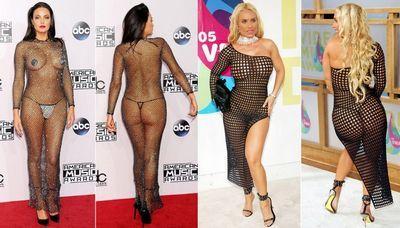 Голые наряды актрис и других звёзд (26 фото)