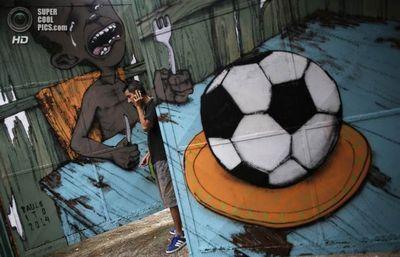 Граффити в бразилии к чемпионату мира по футболу 2014