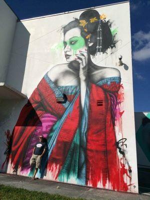 Граффити женские портреты fin dac