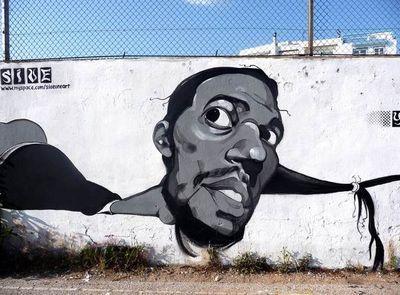 Греческий граффити-художник stamatis laskos