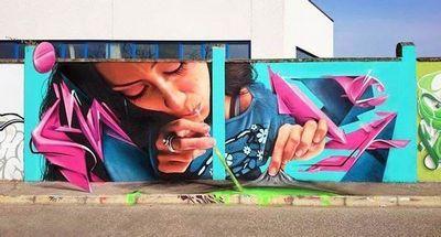 Итальянский уличный художник каиффа козимо (caiffa cosimo)