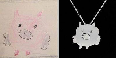 Ювелирные украшения по детским рисункам фото
