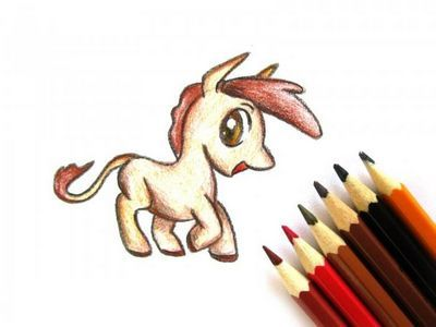 Как рисовать пони поэтапно карандашом
