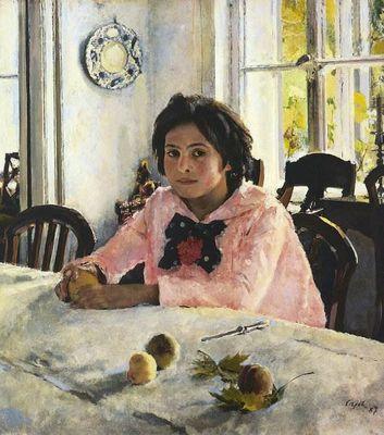 Картина «девочка с персиками» серов