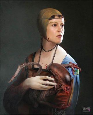 Картины возрождения от современного художника ричарда кингстона
