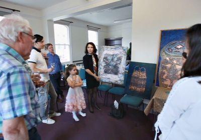 Казахстанская художница представила работы в великобритании