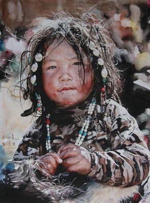 Китайский художник-акварелист ли юнь шунь картины