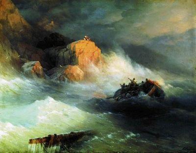 Кораблекрушение картина айвазовского