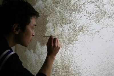 Корейский художник-пуантилист jihyun park