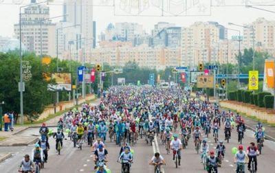 Массовый велопробег пройдет в астане 7 мая
