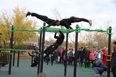 Молодежный парк подарили жителям поселка аршалы