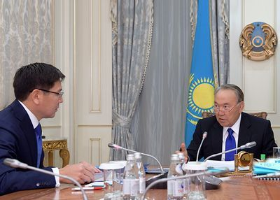 Н.назарбаев принял главу «казатомпрома» а.жумагалиева