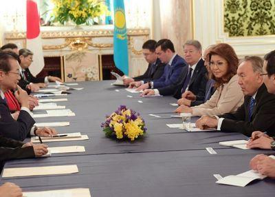Н.назарбаев встретился с членами японской парламентской лиги дружбы