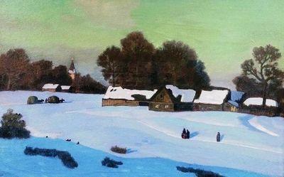 Н. п. крымов «зимний вечер» описание картины