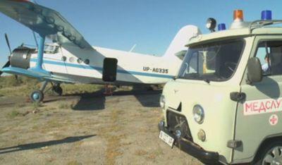 На воздушном медицинском десанте летают в отдаленные районы кызылординские врачи
