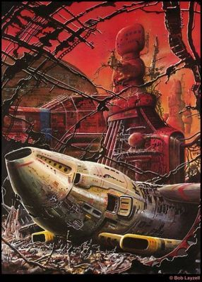 Научная фантастика художника bob layzell