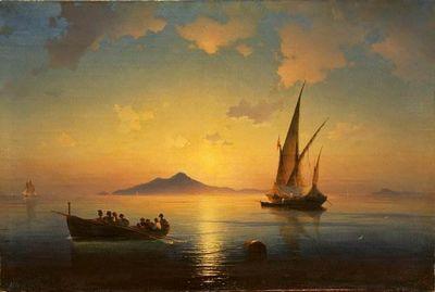 Неаполитанский залив картина айвазовского