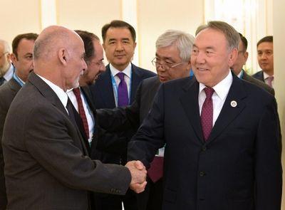 Нурсултан назарбаев встретился в ташкенте с президентом афганистана