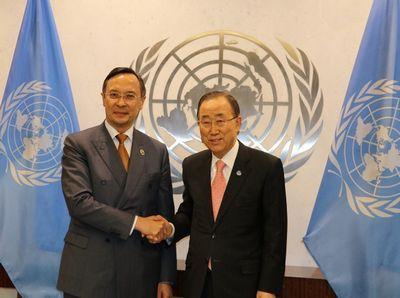 Пан ги мун встретился с министром иностранных дел казахстана