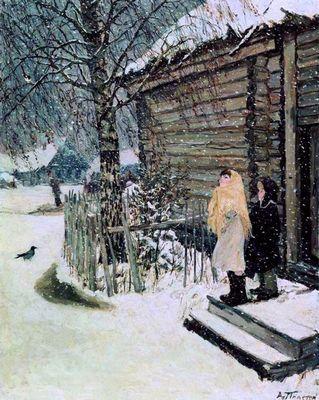 «Первый снег» а. а. пластов описание картины