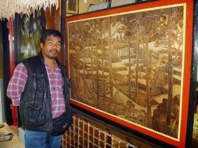 Пирография по дереву. художник джордан манг-осан