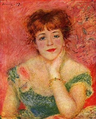 Портрет актрисы жанны самари - огюст ренуар
