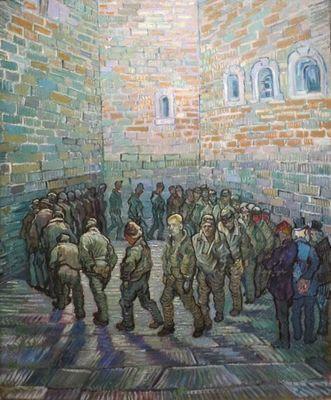 «Прогулка заключенных» картина ван гога