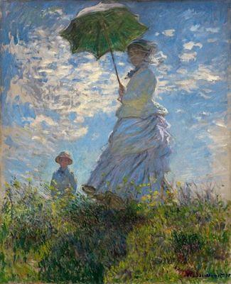 Прогулка. женщина с зонтиком - клод моне