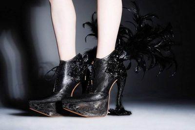 Птичий дизайн обуви масая кушино (masaya kushino)