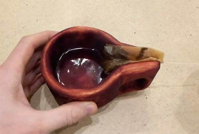 Резная кружка с отжимом чайного пакетика