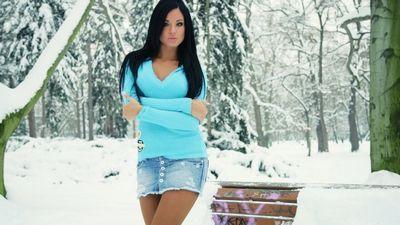Самые красивые девушки зимой (20 фото)