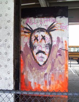 Стрит-арт художника leza one