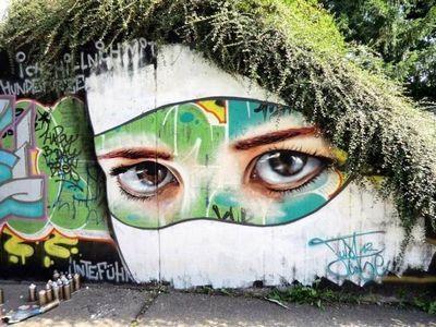 Стрит-арт и природа