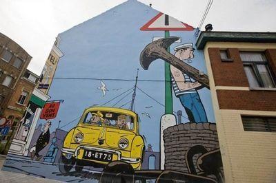 Стрит-арт комиксы в брюсселе