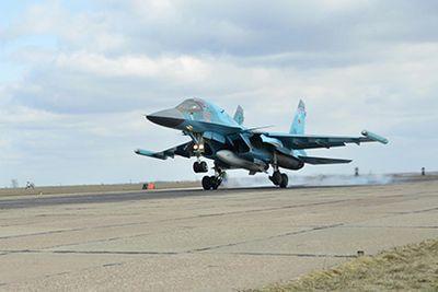 Су-34 вкс россии с авиабазы в иране нанесли удар по иг в сирии