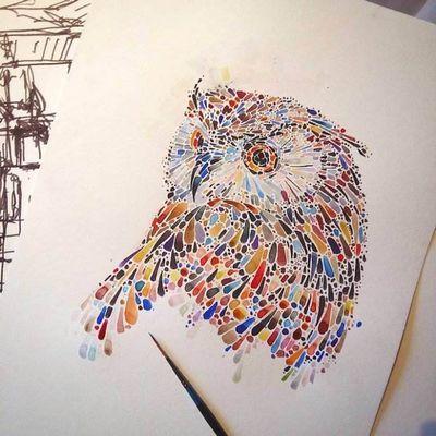Точечные рисунки. художница ана еншина