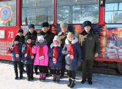 «Трамвай пожарной безопасности» запустили в павлодаре
