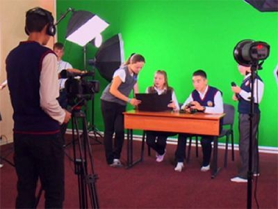 Ученики абайского района развивают собственное телевидение
