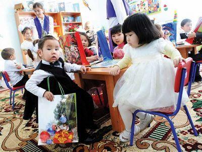 В акмолинской области отсутствуют очереди в детские сады