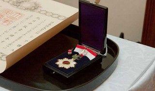 В японии орденом восходящего солнца наградили россиян