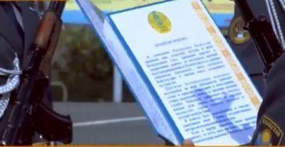 В петропавловске приняли присягу курсанты военного института нацгвардии рк