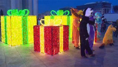 В преддверии нового года астана стала сказочным городом