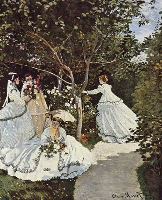 Женщины в саду картина клода моне
