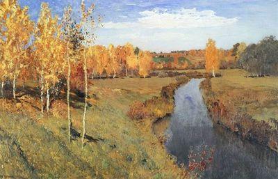 «Золотая осень» картина левитана